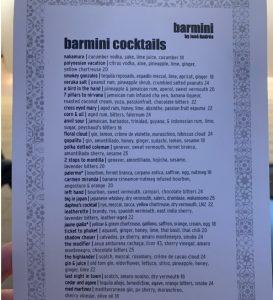 barmini by José Andrésin Bar Menu